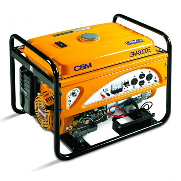 Gerador de Energia á Gasolina 8Kva Monofásico Bivolt Partida Elétrica 15HP GM8000E CSM