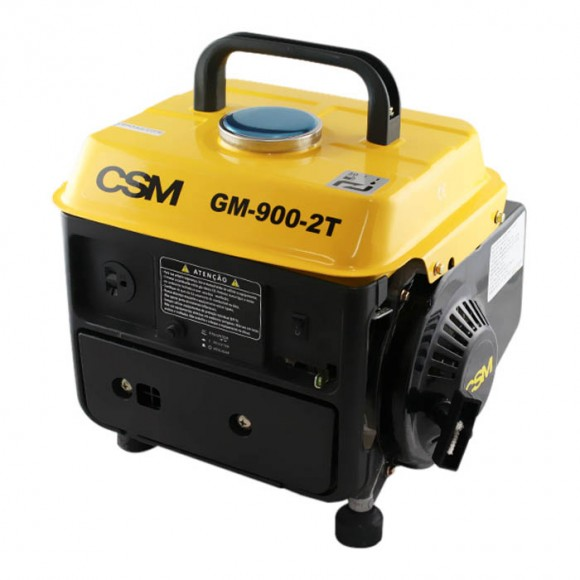 Gerador de Energia Portátil à Gasolina 2T Partida Manual 0,90 Kva 220V