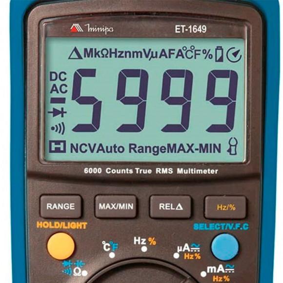 Multímetro Digital Minipa ET-1649 - True RMS-1