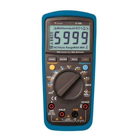 Multímetro Digital Minipa ET-1649 - True RMS-2