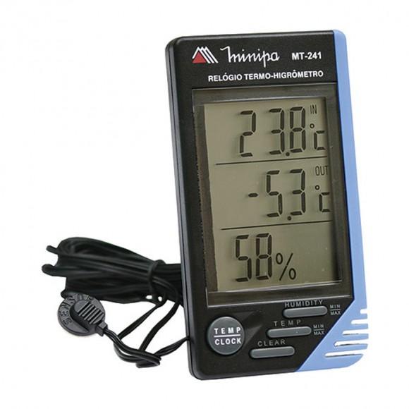 Relógio Termo-Higrômetro digital Minipa - MT-241